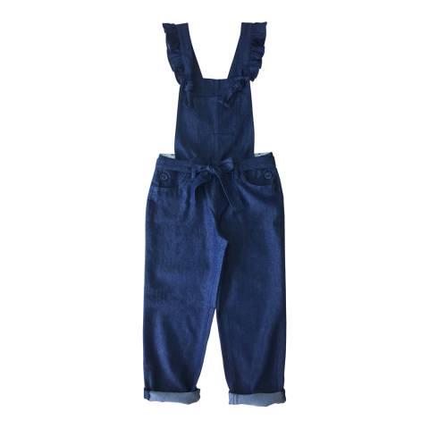 Outside The Lines Denim Frankie Frill Detail Dungaree