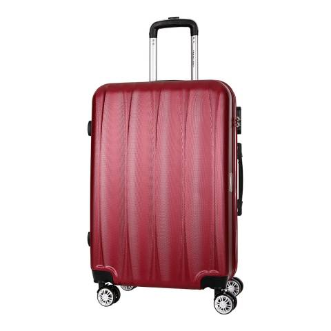 Travel One Burgundy Eastend 8 Wheel  Suitcase 70cm