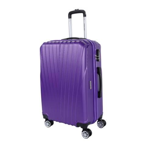 Travel One Purple Elson 8 Wheel  Suitcase 70cm