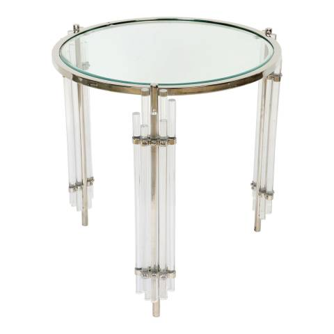 Culinary Concepts Art Deco Side Table With Acrylic Legs