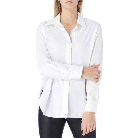 N°· Eleven White Cotton Poplin Shirt