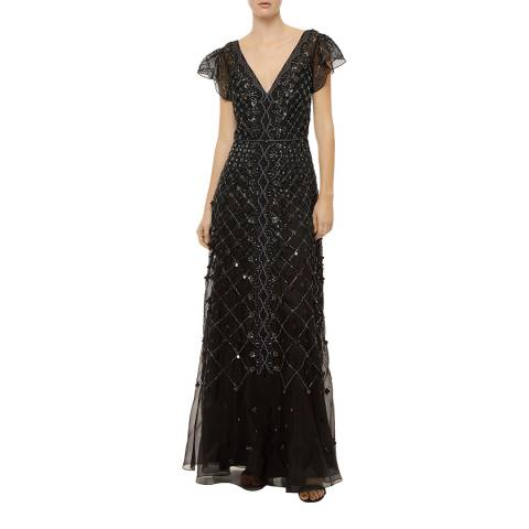 Temperley London Black Jewellery Silk Blend Gown
