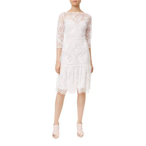 Temperley London White New Moon Fitted Dress