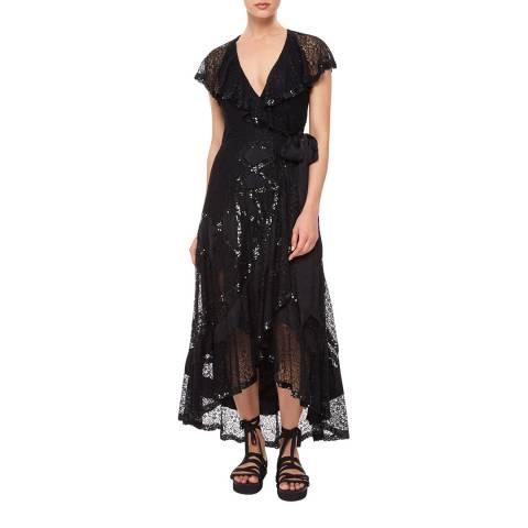Temperley London Black Boulevard Ruffle Dress