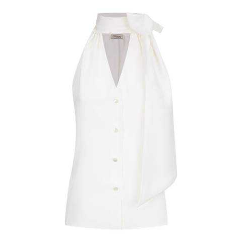 Temperley London White Silk Plage Blouse