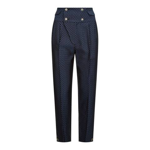 Temperley London Navy Element Waisted Trousers