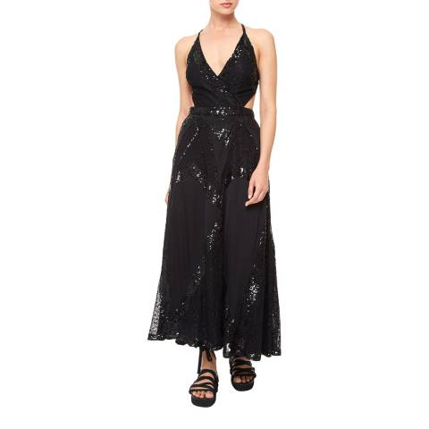 Temperley London Black Boulevard Wrap Dress
