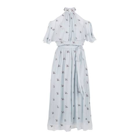 Temperley London Pale Blue Starling Midi Dress