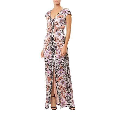 Temperley London Multi Safari Silk Printed Tie Dress
