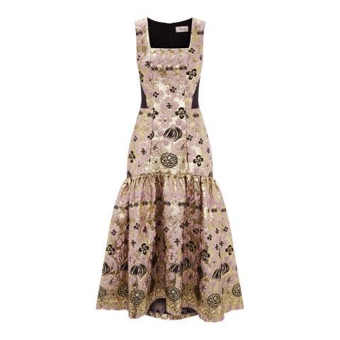 Temperley London Multi Tower Jacquard Long Dress