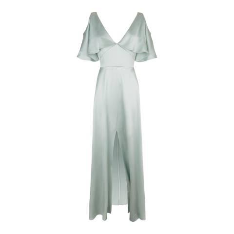 Temperley London Sky Grey Rising Silk Blend Dress