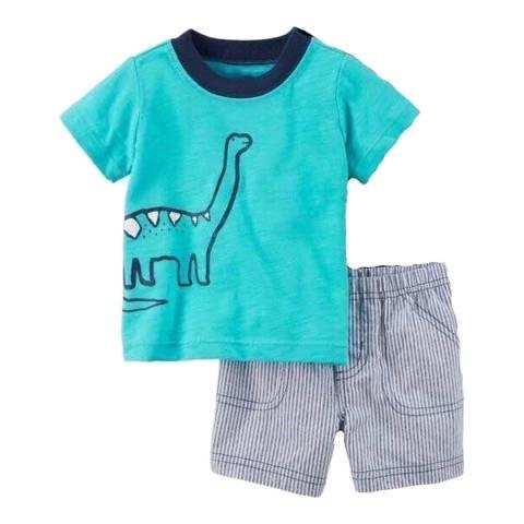 Bambino Organics Aqua Top & Shorts Two-Piece