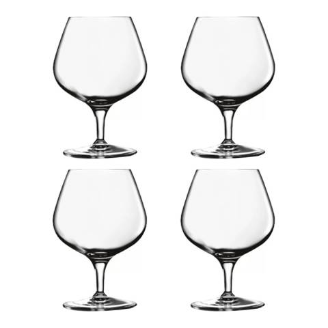 Luigi Bormioli Set of 4 Michelangelo Masterpiece Napolean Cognac Glasses, 395ml