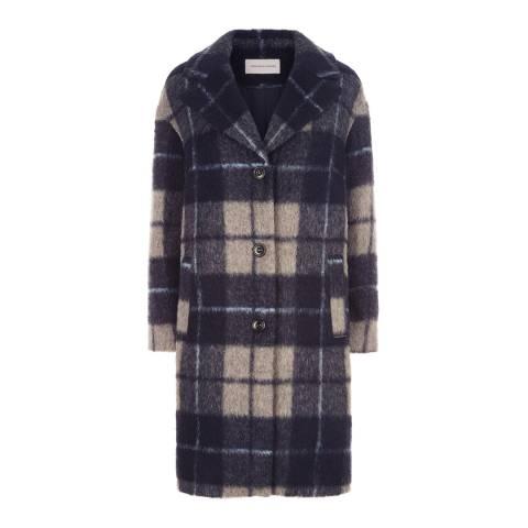 Fenn Wright Manson Navy/Multi Brodie Coat