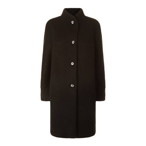 Fenn Wright Manson Black Polly Wool Blend Coat