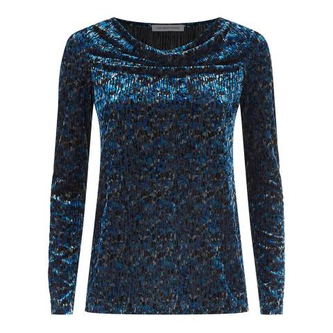 Fenn Wright Manson Blue Long Sleeve Sita Top