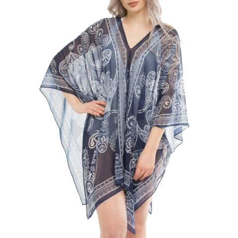 Seaspray Black Paisley Print Multiwear Kaftan