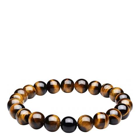 Stephen Oliver Tiger Eye And Black Onyx Bracelet