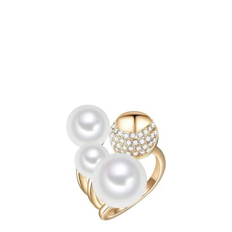 Perldesse Gold Pearl Ring 8-12mm