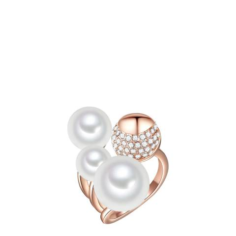 Perldesse Rose Gold Pearl Ring 8-12mm