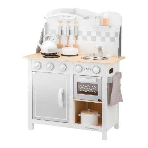New Classic Toys White/Silver Deluxe Bon Appetit Kitchenette