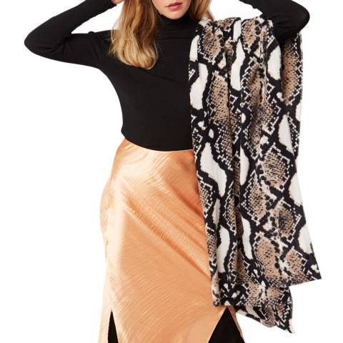 JayLey Collection Snake Print Cashmere Blend Wrap