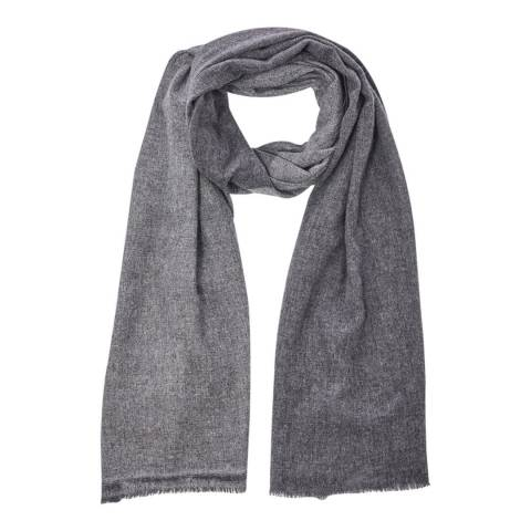 N°· Eleven Charcoal/Grey Cashmere Fine Knit Scarf
