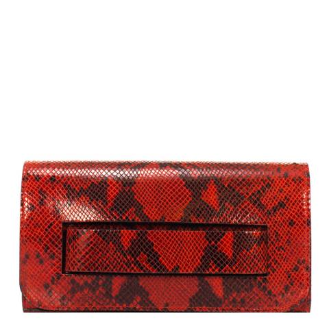 Giorgio Costa Red Leather Clutch Bag