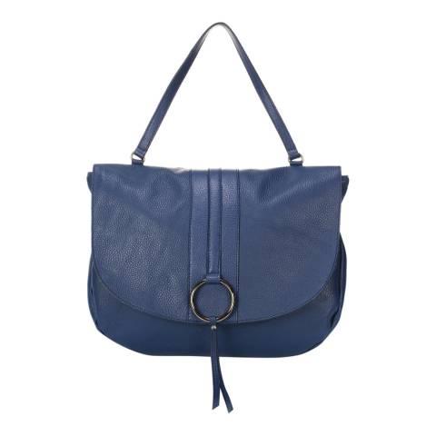Giorgio Costa Blue Leather Top Handles Bag