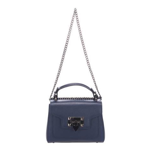 Lisa Minardi Blue Leather Top Handle Bag