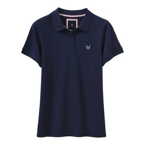 Crew Clothing Navy Exmouth Solid Polo T-Shirt