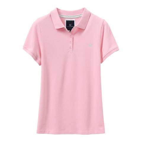Crew Clothing Classic Pink Exmouth Solid Polo T-Shirt