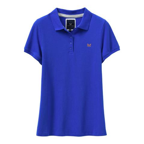 Crew Clothing Strong Blue Exmouth Solid Polo T-Shirt