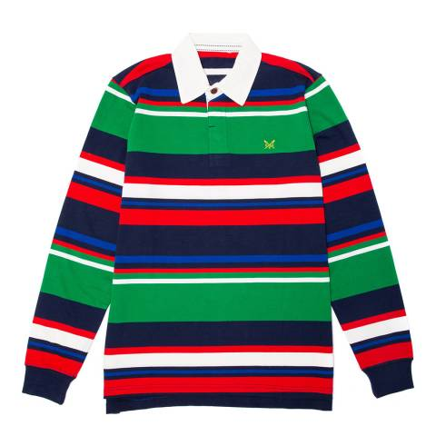 Crew Clothing Multi Stripe Rugby Top