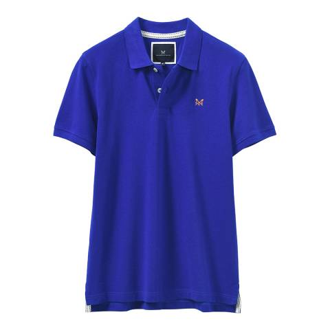 Crew Clothing Blue Melbury Polo T-Shirt