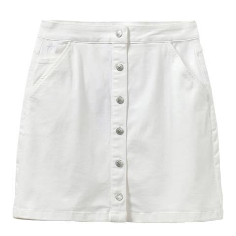 Crew Clothing White Denim Skirt