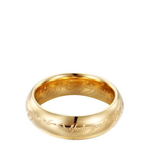 Ma Petite Amie Men's Gold Script Ring