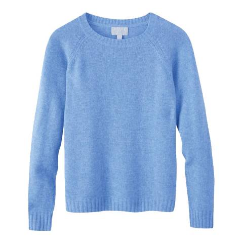Pure Collection Blue Cashmere Lofty Jumper