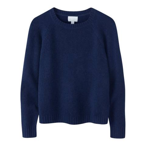 Pure Collection Navy Cashmere Lofty Sweatshirt