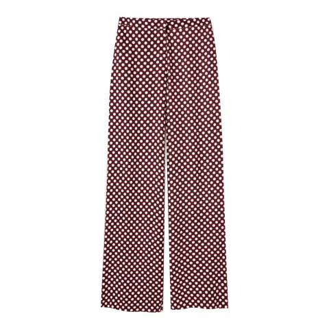 Pure Collection Wide Leg Printed Trousers