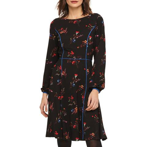 Phase Eight Black/Multi Elysia Print Dress