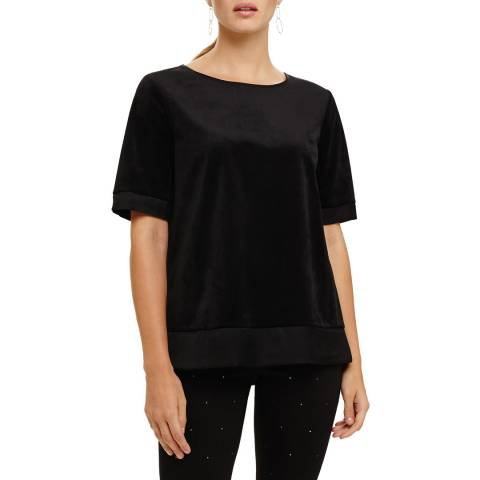 Phase Eight Black Velvet Blouse