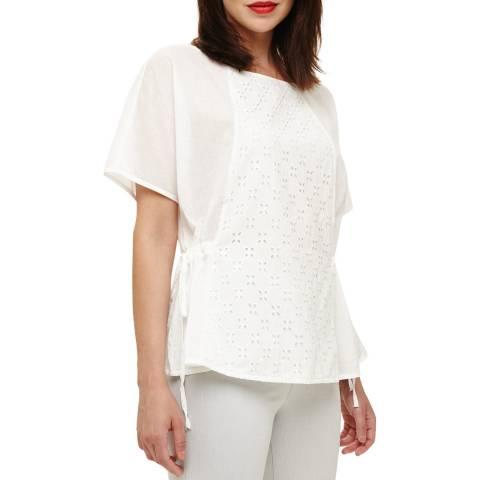 Phase Eight White Ami Broidery Blouse