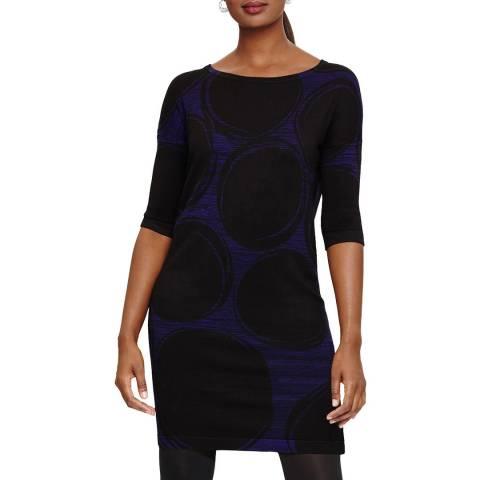 Phase Eight Cobalt/Black Sammy Knit Dress