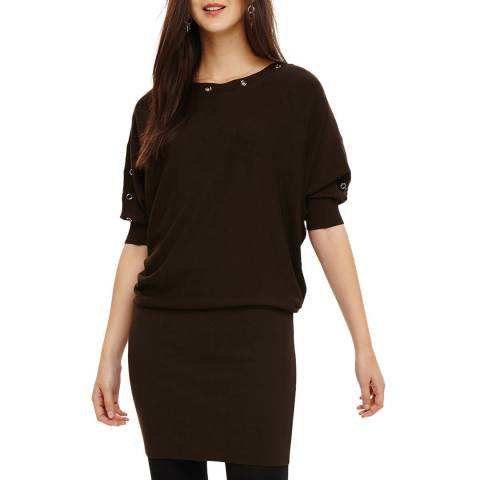 Phase Eight Khaki Becca Knit Dress