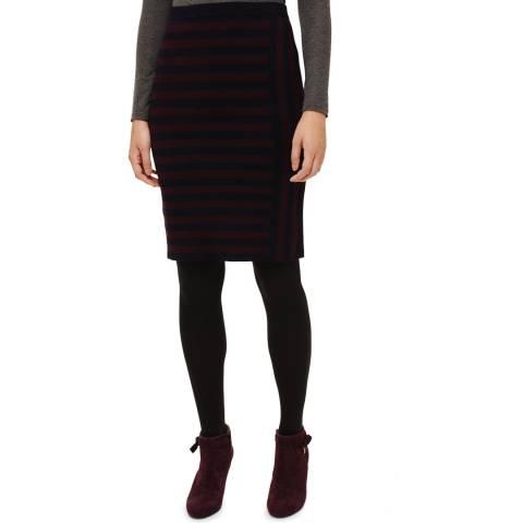 Phase Eight Navy/Port Stacey Stripe Skirt