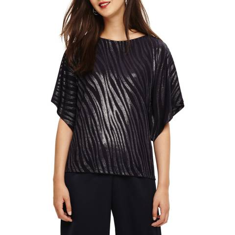 Phase Eight Navy Salome Shimmer Top