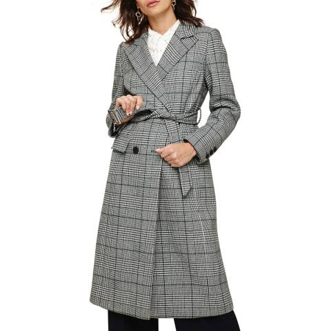 Phase Eight Multi Carmel Check Trench Coat
