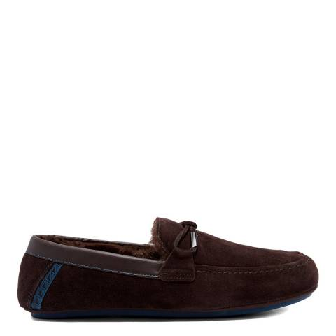 Ted Baker Brown Valcent Suede Moccasin Slipper