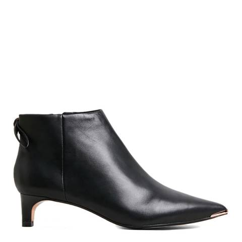 Ted Baker Black Amaedi Kitten Heel Ankle Boot